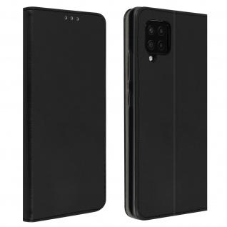 Wallet Cover für Samsung Galaxy A42 5G, Kartenfach und Ständer ? Schwarz