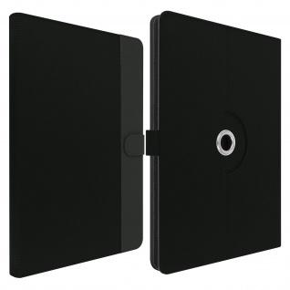 Universal Soft Touch Stoffhülle für 7'' Tablets, Standfunktion ? Schwarz