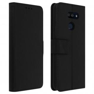 LG K40s Flip-Cover mit Kartenfächern & Standfunktion - Schwarz