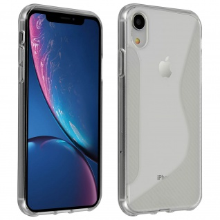 Backcover Apple iPhone XR S-Line Schutzhülle aus Silikon - Frosted Weiß