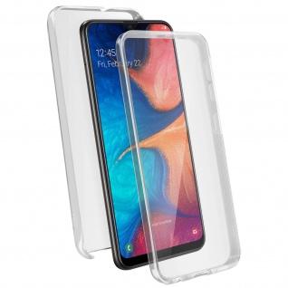 Schutzhülle für Samsung Galaxy A20S, Vorder- + Rückseite ? Transparent