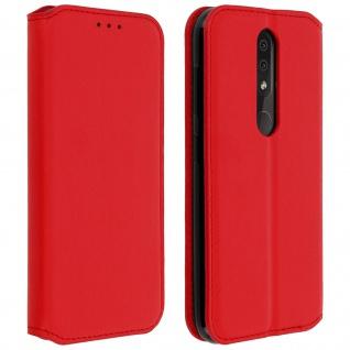 Kunstleder Cover Classic Edition Nokia 4.2 - Rot