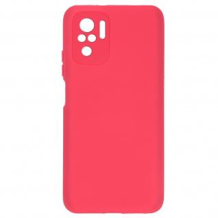 Halbsteife Silikonhülle für Xiaomi Redmi Note 10 / 10s, Soft Touch ? Fuchsienrot
