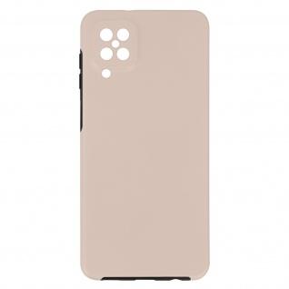 Schutzhülle für Samsung Galaxy A12, Vorder- + Rückseite ? Rosegold
