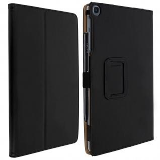 Slim Flip Book Cover, Standcase für Samsung Galaxy Tab A 10.1 2019 - Schwarz