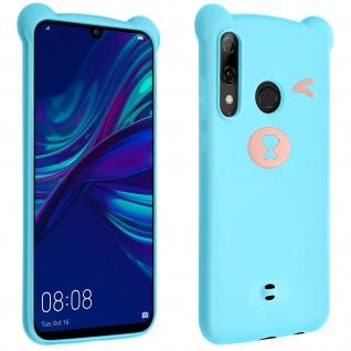 Teddybär Silikonhülle für Huawei P Smart 2019, Honor 10 Lite, 3D Design - Blau