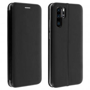 Flip-Cover Case im Brieftaschenstil ultradünn für Huawei P30 Pro - Schwarz