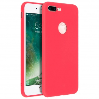 Forcell iPhone 7 Plus/ 8 Plus Soft Touch Silikonhülle, soft case - Rot