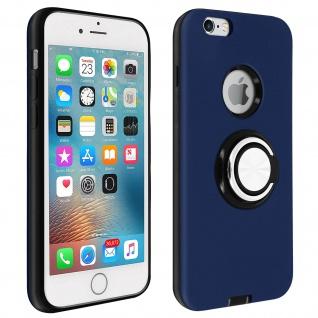 Armor Shield Handyhülle mit Ring Halterung für Apple iPhone 6 / 6S - Dunkelblau