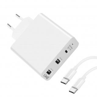 LinQ Ladegerät mit 1x USB-C 30W PD Anschluss + 2x Quick Charge USB Anschlüsse