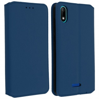 Kunstleder Cover Classic Edition Wiko Y60 - Blau