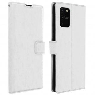 Flip Stand Case Brieftasche & Standfunktion für Galaxy S10 Lite ? Weiß
