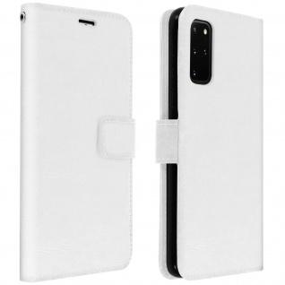 Flip Cover Stand Case Brieftasche & Standfunktion Samsung Galaxy S20 Plus - Weiß