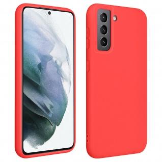 Halbsteife Silikon Handyhülle für Samsung Galaxy S21 Plus, Soft Touch ? Rot