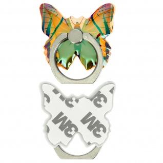 Schmetterling Ring Halterung für Smartphones, 360° drehbare Halterung - Grün