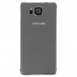Ersatzteil Akkudeckel, neue Rückseite für Samsung Galaxy Alpha - Grau - Vorschau 5