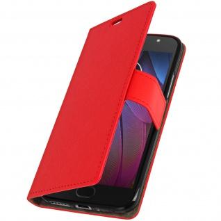 Motorola Moto G5S Flip-Cover mit Kartenfächern & Standfunktion - Rot