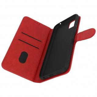 Klappetui mit Geldbörse, Kunstlederhülle für Samsung Galaxy A22 5G ? Rot