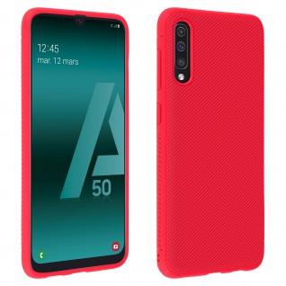 Schutzhülle Samsung Galaxy A50, gummierte Gelhülle - Rot