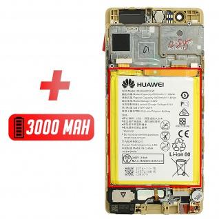 Ersatzdisplay Huawei P9 kompatibel, Scheibe vormontiert - Gold - Vorschau 5