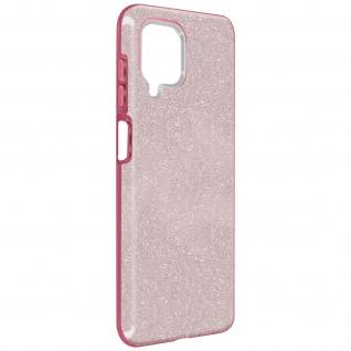 Schutzhülle, Glitter Case für Samsung Galaxy A12, shiny & girly Hülle â€? Rosa