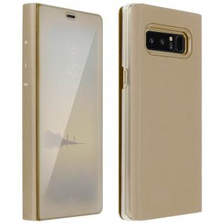 Galaxy Note 8 ultradünnes Flip-Cover mit Spiegeleffekt & Standfunktion ? Gold