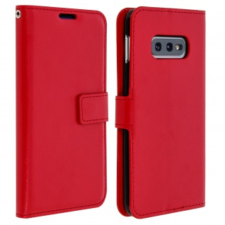 Flip Stand Cover Brieftasche & Standfunktion für Samsung Galaxy S10e - Rot