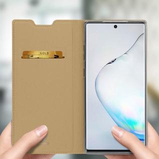 Flip Cover, Klappetui mit Kartenfach & Standfunktion Samsung Galaxy Note 10 Gold - Vorschau 4