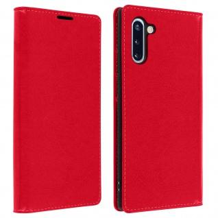 Business Leder Cover, Schutzhülle mit Geldbörse Samsung Galaxy Note 10 â€? Rot