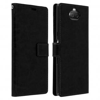 Flip Stand Cover Brieftasche & Standfunktion für Sony Xperia 10 - Schwarz
