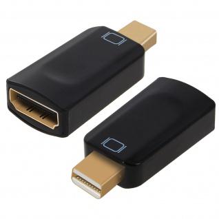 Schwarzer Mini DisplayPort männlich auf HDMI weiblich Adapter HD kompakt