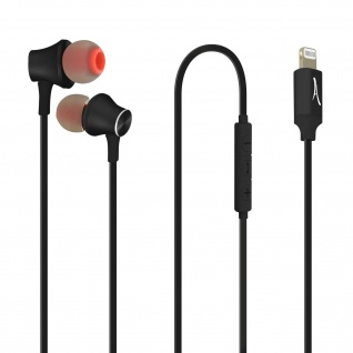 Lightning Kopfhörer, Mikrofon und Multifunktionstasten, Akashi - Schwarz
