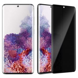 Displayschutzfolie mit Blickschutz für Samsung Galaxy S20 - Rand Schwarz
