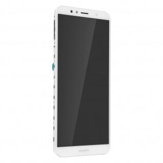 Ersatzdisplay mit Huawei Y6 2018 kompatibel, Scheibe vormontiert - Weiß
