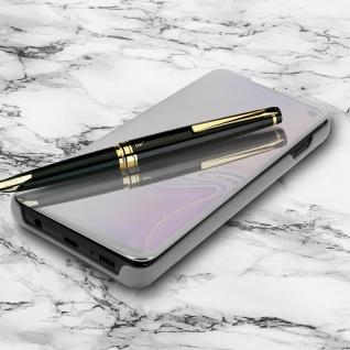 Samsung Galaxy S10 Plus Flip Cover mit Spiegeleffekt & Standfunktion - Silber - Vorschau 2