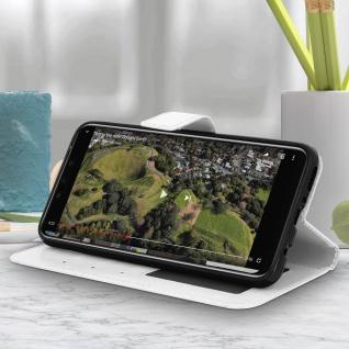 Flip Stand Cover Brieftasche & Standfunktion Huawei Mate 20 lite - Weiß - Vorschau 4