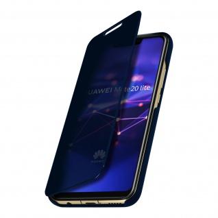 Huawei Mate 20 Lite Flip Cover mit Spiegeleffekt & Standfunktion � Dunkelblau