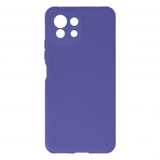 Halbsteife Silikon Handyhülle für Xiaomi Mi 11 Lite, Soft Touch ? Violett