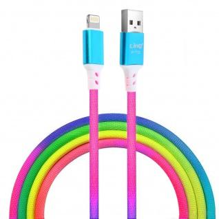 LinQ buntes geflochtenes iPhone, iPad, iPod Lade-/Datenkabel