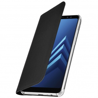 Flip Book Cover Schutzhülle für Samsung Galaxy A8 - Schwarz