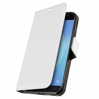 Vintage Flip-Schutzhülle mit Standfunktion für Samsung Galaxy J3 2017 - Weiß