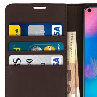 Business Leder Cover, Schutzhülle mit Geldbörse für Huawei P30 Pro - Braun - Vorschau 5