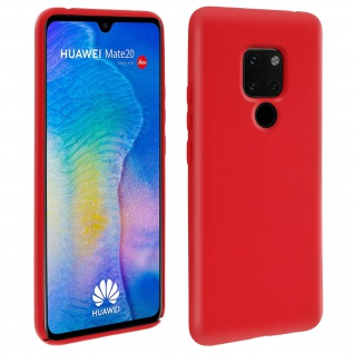 Huawei Mate 20 Soft Touch kratzfeste Silikonhülle, soft case - Rot