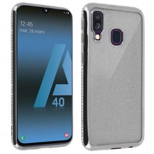 Schutzhülle, Glittery Case für Samsung Galaxy A40, shiny & girly Hülle - Silber