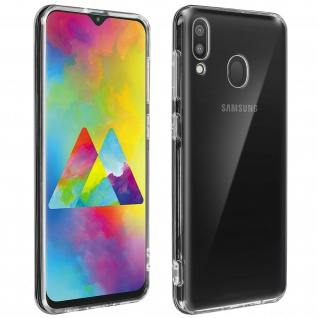 Crystal Schutzhülle + Bumper cover für Samsung Galaxy M20 - Transparent