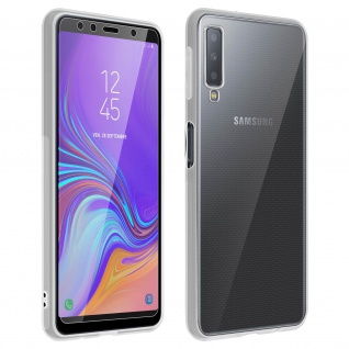 360° Protection Pack für Galaxy A7 2018: Backcover + Displayschutzfolie aus Glas