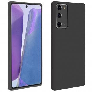 Halbsteife Silikon Handyhülle Samsung Galaxy Note 20, Soft Touch - Schwarz