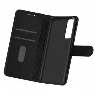 Flip Cover Geldbörse, Etui Kunstleder für Samsung Galaxy A02s ? Schwarz