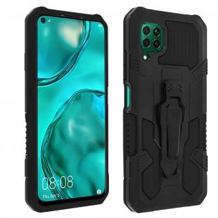 Stoßfeste Handyhülle Huawei P40 Lite, mit Gürtelclip und Ständer ? Schwarz