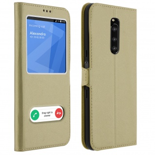 Sony Xperia 1 Flip Cover Doppelfenster & Standfunktion - Gold